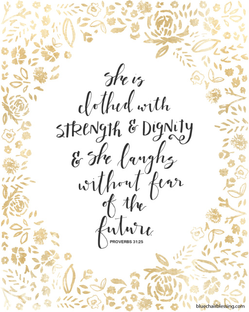 Verse She Is Clothed With Dignity: She Is Clothed With Strength And Dignity 8 By 10 Proverbs