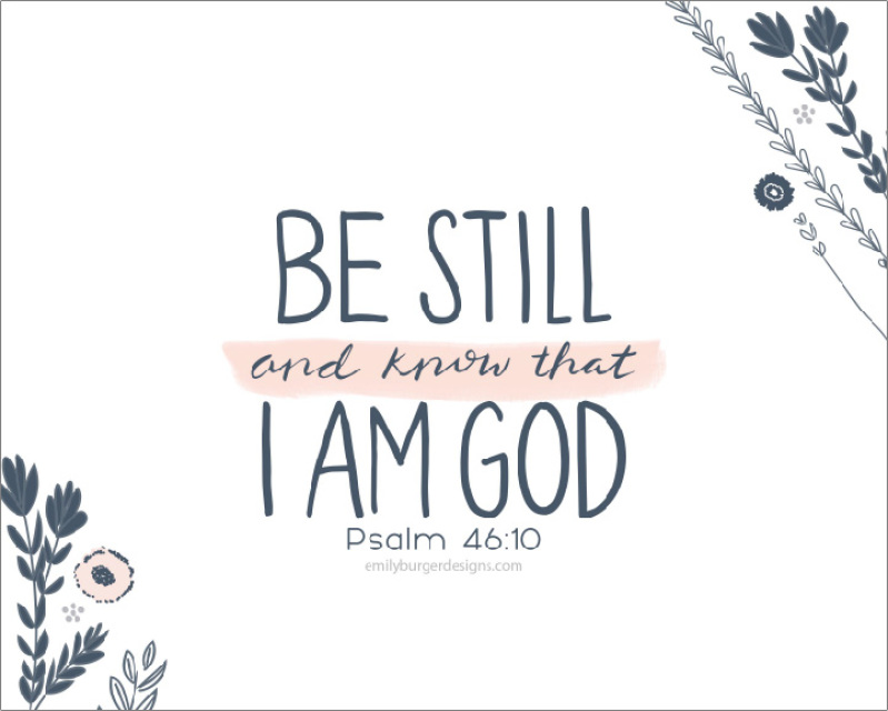 be still and know that i am god  flowers  hand lettering 8 scripture clipart advent scripture clipart advent