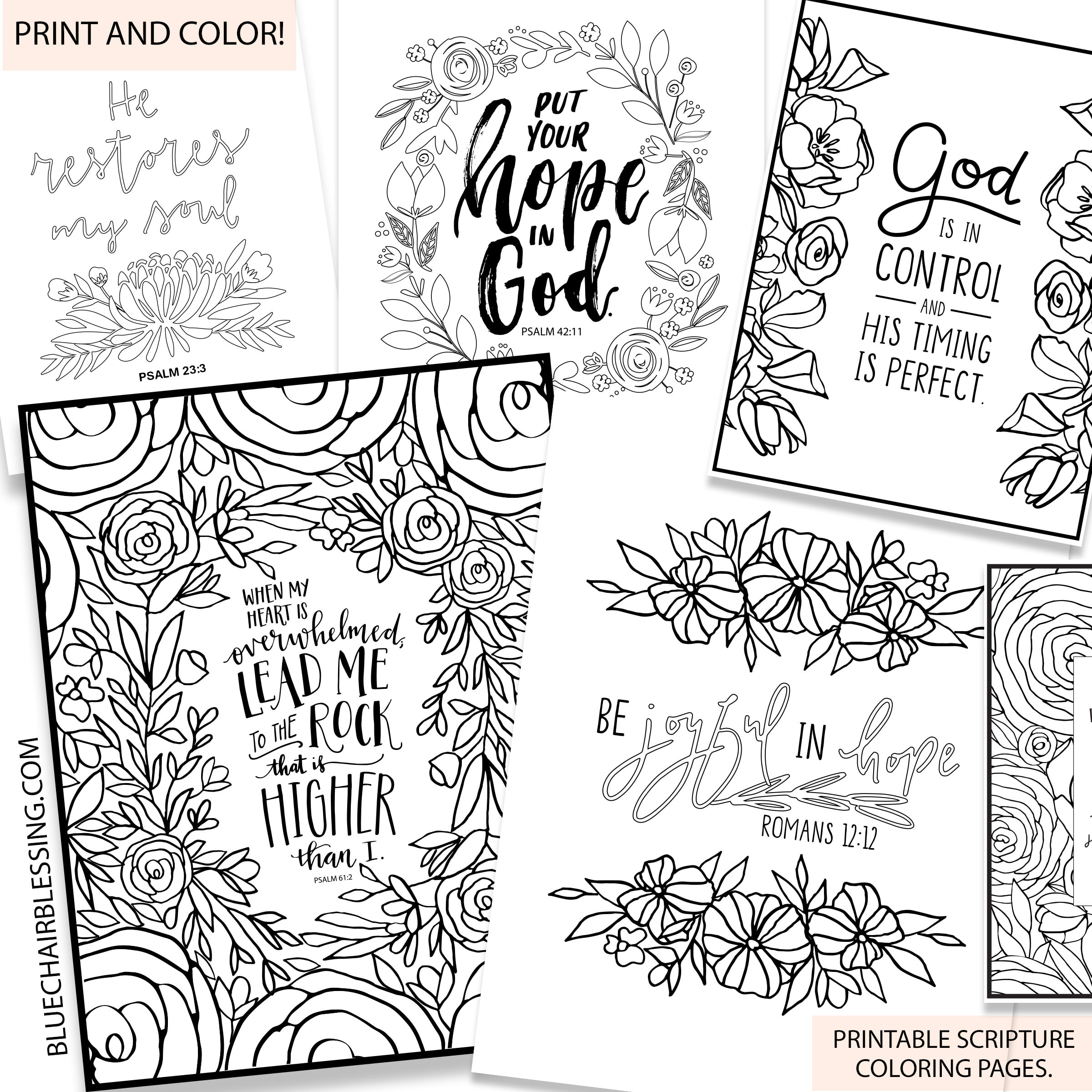 - 10 Page Scripture Coloring Book. Print And Color! Printables To