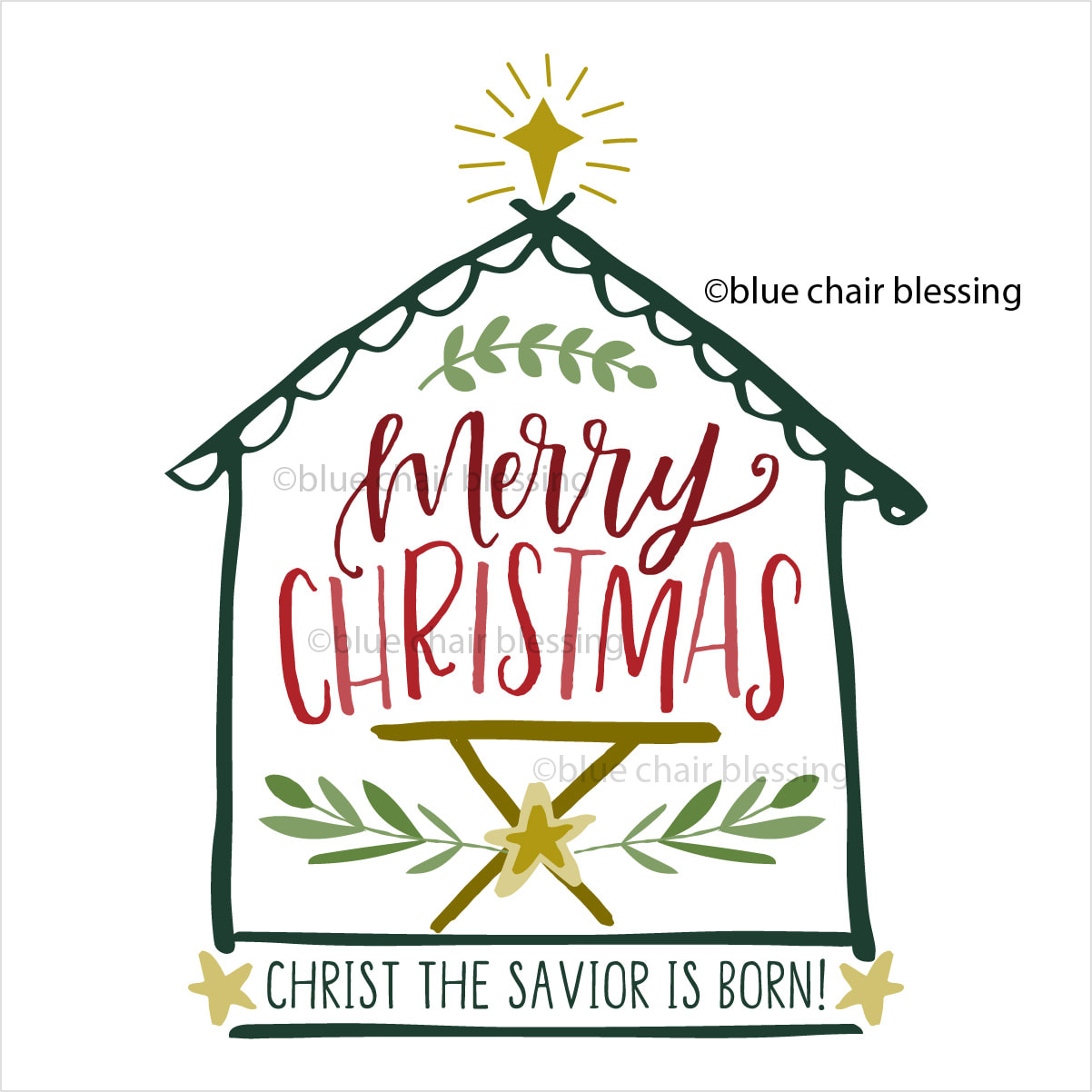 Christian Christmas.Hand Lettered Christmas Graphic Clip Art For Crafting May The Peace Of Christ Be With You For Personal Use Creative License To Sell Available